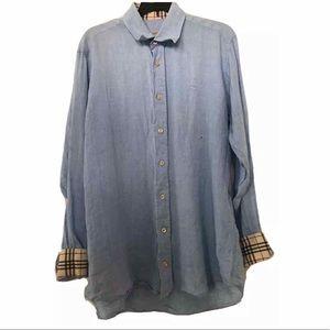 Burberry London Long Sleeve Button Down Shirt
